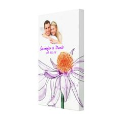 Coneflower Wedding Photo Wrapped Canvas Print