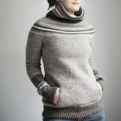 Midwinter by Trin-Annelle - sweater knitting pattern with pockets