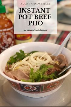 This quick and easy instant pot recipe will satisfy that craving. A go to recipe for the pho lover household! Instant Pot Pho Recipe, Pho Recipe Easy, Instant Pot Dinner Recipes, Pot Recipe, Instant Pot Pressure Cooker, Pressure Cooker Recipes, Pressure Cooker Pho, Asian Recipes, Ethnic Recipes