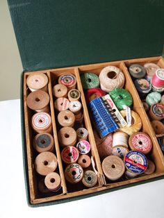 Sew What - Vintage Sewing Box with Thread Sewing Tools, Sewing Hacks, Sewing Crafts, Sewing Kit, Vintage Sewing Notions, Antique Sewing Machines, Vintage Tools, Vintage Crafts, Make Do And Mend