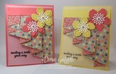 "Hi Stampers, Today we will be making this adorable card using the curtain fold technique . You will need a piece of designer paper cut at 5 1/2"" x 12"" I will be using the brand new designer paper call"