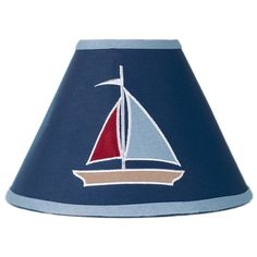 @Overstock - This 'Nautical Nights' lamp shade is especially created to coordinate with other Sweet Jojo Design bedding sets to easily complete the theme for your child's bedroom. This lamp shade features a fun sailboat print and is made of 100 percent cotton.http://www.overstock.com/Baby/Sweet-JoJo-Designs-Nautical-Nights-Navy-Lamp-Shade/7599938/product.html?CID=214117 $25.99