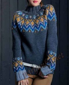 Women's Sweaters Online -Chicslook – Page ChicsLook Long Sweaters, Winter Sweaters, Sweaters For Women, Icelandic Sweaters, Knitting Machine Patterns, Fair Isle Knitting, How To Purl Knit, Knit Shirt, Casual Street Style