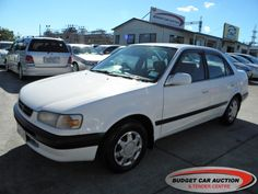 Toyota Corolla ex rental  For Sale  $3,900.00    Year:   1996  Manufacturer:   Toyota  Model:   Corolla ex rental   Engine:   1498  Fuel Type:   Petrol  Transmission:   Automatic  Mileage:   191161 km  Exterior Colour:   White  Doors:   4  Body Style:   Sedan  Stock #:   8625    Features:  Airbag, Central Locking, Power Windows, Power Steering