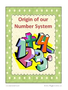 Freebie:  Have you ever thought about why a 3 stands for three or why a 4 stands for four?  This activity provides an element of novelty where students gain an appreciation for research by discovering the origin of our number system.The student will have an opportunity to:collect information from multiple sources generate research topics from personal interestsask open-ended research questions        clarify, evaluate, and synthesize collected information