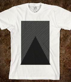 #triangle #hipster #lines #black #white #americanapparel #tshirt #shirt #tanktop #skreened