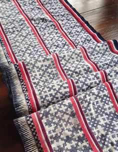Hmong Fabric Handmade cotton Batik Tribal Textile craft supplies