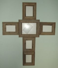 barn wood picture frame cross