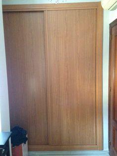 Frente de armario 2 hojas correderas lacado en blanco - Frente armario corredera ...