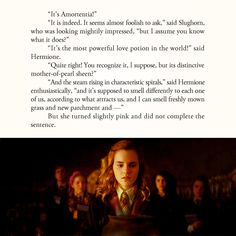 According to JK Rowling, the last thing Hermione was supposed to say was Ron's hair.