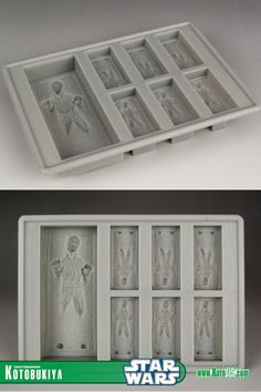 It's a Han Solo in Carbonite tray so you can make ice cubes or Chocolate blocks with little tiny Han Solos peeking out.  Yes please.