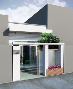 Nhà cấp 4 đẹp House Front Design, Design Your Dream House, Small House Design, Modern House Design, 20x40 House Plans, My House Plans, Narrow House Designs, Latest House Designs, Minimalist House Design