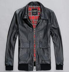 Bolsillo negro ropa de marca para hombre invierno moto de piel de oveja  genuina chaqueta de 98c164c9d00
