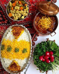 Gheimeh;  an Iranian stew consisting of meat, tomatoes, split peas,onion and dried lime