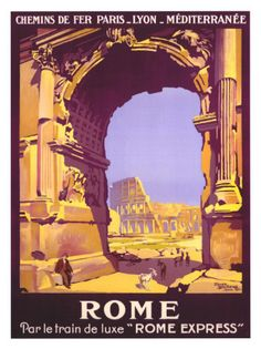 Vintage Travel Poster - Italy - Rome