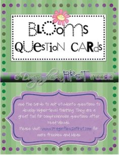 Blooms Question Cards