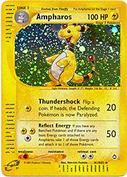 Pokemon Aquapolis Card 1 - Ampharos Holofoil $22.50-$30.00