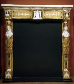 """1804-1809 French Mantelpiece at the Victoria and Albert Museum, London - From the curators' comments: """"The central reliefs depict Napoleon I as Emperor bestowing honours on his brothers, with busts of Napoleon himself and, it is thought, Josephine. The mantelpiece was therefore most likely made between 1804 when Napoleon became Emperor and 1809 when he divorced Josephine."""""""