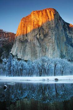 Frosty Alpen Glow - El Capitan, Yosemite National Park, California, USA  (Photo by Jc Christoper -- National Geographic)