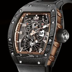 The Richard Mille RM 022 Aerodyne Dual Time Zone Tourbillon Asia Edition in NTPT Carbon and red gold for Watches&Wonders 2015.
