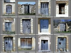 blue doors