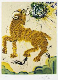 I segni zodiacali illustrati da Salvador Dalì #arte