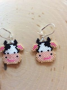 """Items similar to Bead Earrings """"Shopping Carts"""" Seed bead earrings, Delica beaded Earrings on Etsy – Handwerk Beaded Earrings Patterns, Seed Bead Patterns, Beading Patterns, Bracelet Patterns, Stitch Patterns, Brick Stitch Earrings, Seed Bead Earrings, Art Minecraft, Minecraft Buildings"""