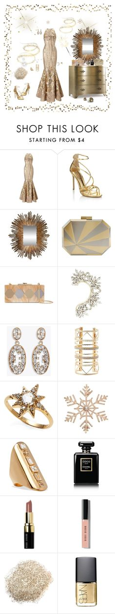 """""""Gold"""" by deborah-518 ❤ liked on Polyvore featuring Ariella, Hooker Furniture, Lipsy, Global Views, Nathalie Trad, Halston Heritage, BCBGMAXAZRIA, Charlotte Russe, Anzie and John Lewis"""