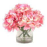 Peonies in Acrylic Water Vase