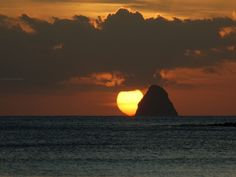 Beautiful Sunsets Behind Diamant Martinique