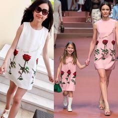 3-10Y 100% хлопок платья зимних 2015 бренд детей платье принцессы костюм письмо ручной дети платья для девочек одежда(China (Mainland))
