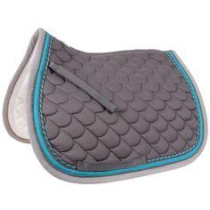 English Saddle Pad   Waldhausen Saddle Pad Grey/Turquoise