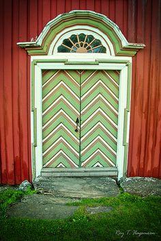 Green doors. Norway~~What's behind the green door?