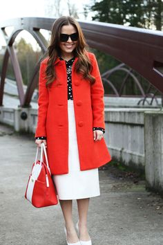 cute... red. dots. white