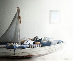 just a cosy little boat, the place for reading fairytales...