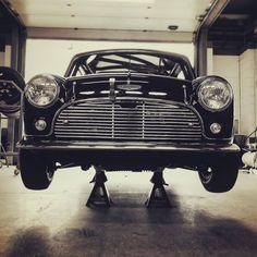 Love the historic mini. It looks so sweet but is an absolute little wild thing to drive! Classic Mini, Classic Cars, Black Mini Cooper, Austin Mini, Cooper Car, Mini Car, Mini Coopers, Collector Cars, Kustom