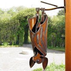 metal bat yard art~