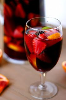 Blood Orange Blackberry Sangria by Fabtastic East