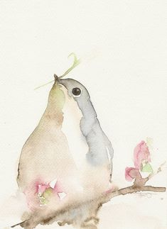 Bird Animal Painting Watercolor Art Giclee A5 by FrancinaMaria #watercolorarts