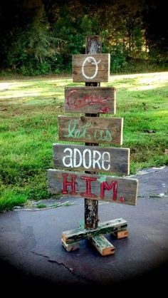 Make one of these to sit on the lawn that points out where stuff is in our garden eg dog kennel garden shed formal garden vege patch