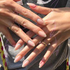 Design by mynameismikinail . Gel Nail Art, Acrylic Nails, Pastel Nails, Cute Nails, Pretty Nails, Basic Nails, Happy Nails, Minimalist Nails, Dream Nails