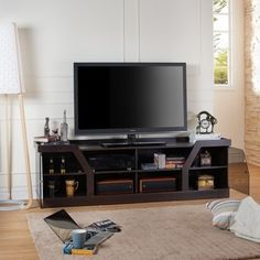 Furniture of America Dellie Contemporary Espresso TV Stand | Overstock.com Shopping - The Best Deals on Entertainment Centers