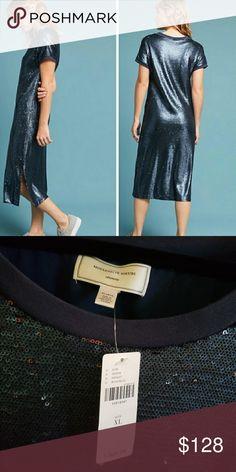 28af8054772 Anthropologie Sequin Midi Dress Moulinette Soeurs sequin midi dress from  Anthropologie Brand new with tags Slip