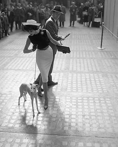 Simone with Whippet, 1959 © William Helburn / Staley-Wise Gallery New York