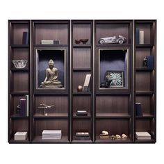 Nightwood Bookcase  Contemporary, Upholstery  Fabric, Metal, Leather, Wood, Storage by Promemoria