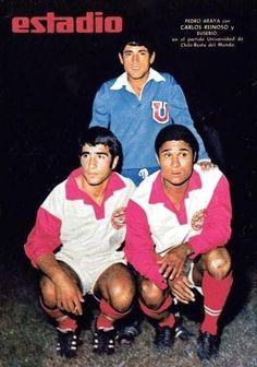 Araya, Reinoso e Eusébio: U. de Chile (1968).