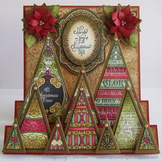 paper craft christmas card - Google Search
