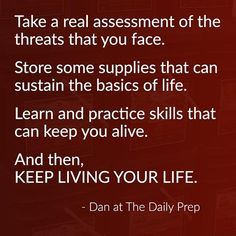 Great advice from Dan over at The Daily Prep.