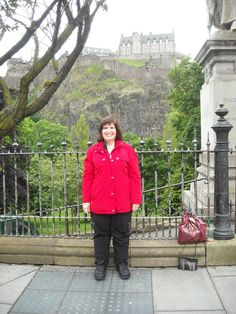 Me with Edinburgh Castle from Prince Street