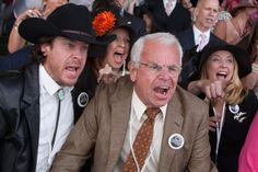 Mark Allen (Christian Kane), Leonard 'Doc' Blach (William Devane) scream during the Kentucky Derby.